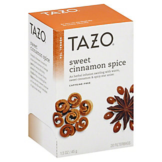 Tazo Sweet Cinnamon Spice Caffeine-Free Herbal Tea Filterbags,20 CT