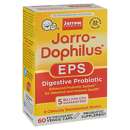 Jarrow Formulas Enhanced Probiotic System Jarro-Dophilus EPS Vegetarian Capsules, 60 CT