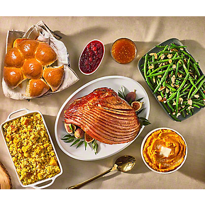 Smoked Ham with Apricot Ginger Glaze Dinner, Serves 6-8