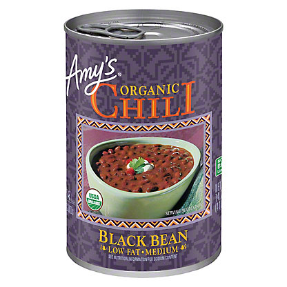 Amy's Organic Low Fat Medium Black Bean Chili, 14.7 oz