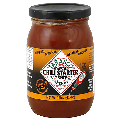 Tabasco Original Homestyle 7 Spice Chili Starter, 16 oz