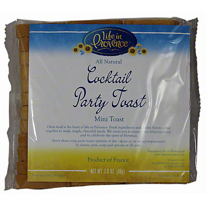 Life in Provence Cocktail Party Mini Toast,2.8 OZ