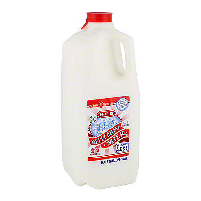 H-E-B Select Ingredients Reduced Fat 2% Milkfat Milk, 1/2 gal