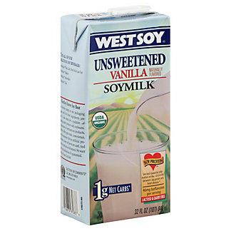 West Soy Vanilla Soymilk Unsweetened, 32 OZ.