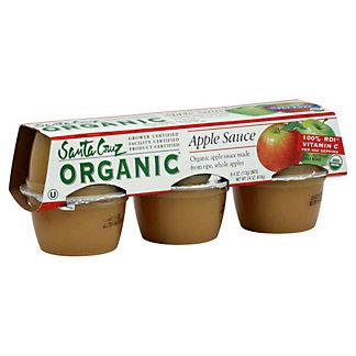 Santa Cruz Organic Apple Sauce,6 CT (4 OZ)