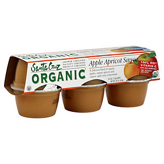 Santa Cruz Organic Apple Apricot Sauce,6 - 4 oz cups