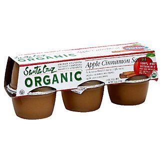 Santa Cruz Organic Apple Cinnamon Sauce,6 CT (4 OZ)