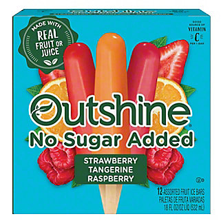 Dreyer's Outshine No Sugar Added Assorted Fruit Ice Bars,12 ct