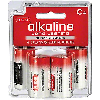 H-E-B Pro+ Alkaline C Batteries, 4 pk
