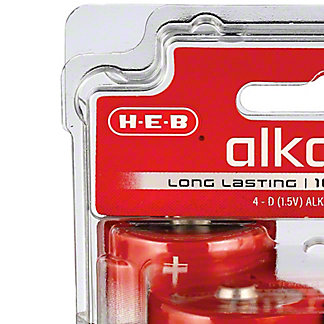 H-E-B Pro+ Alkaline D Batteries, 4 pk