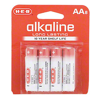 H-E-B Pro+ Alkaline AA Batteries, 8 pk