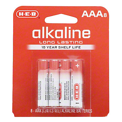 H-E-B Pro+ Alkaline AAA Batteries, 8 pk