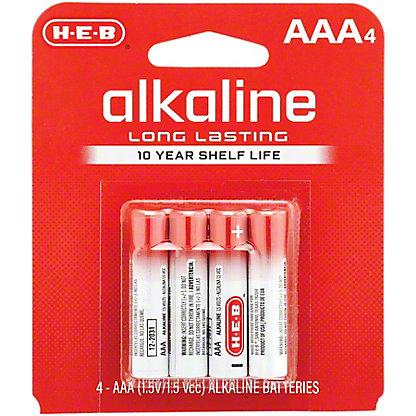 H-E-B Pro+ Alkaline AAA Batteries,4 CT