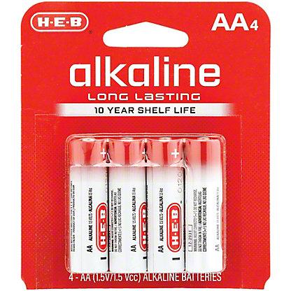 H-E-B Pro+ Alkaline AA Batteries,4 CT