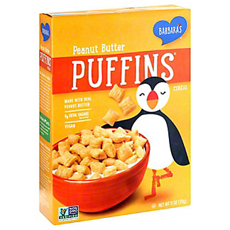 Barbara's Peanut Butter Puffins Cereal, 11 oz
