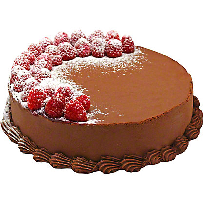 Central Market 9' Chocolate Raspberry Truffle Cake, 9 INCH