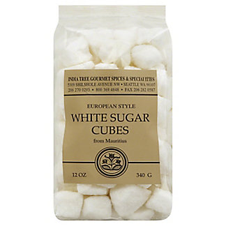India Tree European Style White Sugar Cubes From Mauritius,12 OZ