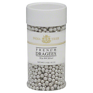 India Tree Silver Size 4 French Dragees, 3.3 oz