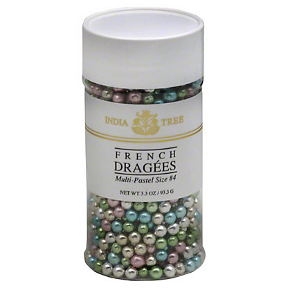 India Tree Multi-Pastel Size No. 4 French Dragees, 3.3 oz