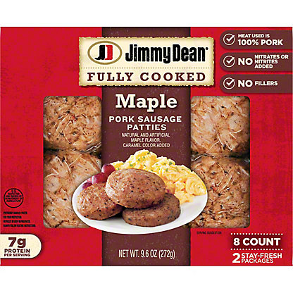 Jimmy Dean Pork Maple Sausage Patties, 8 ea