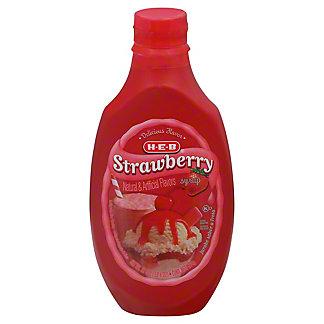 H-E-B Strawberry Syrup, 22 oz