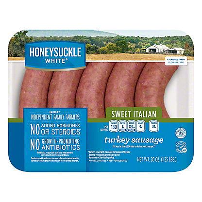 Honeysuckle White Sweet Italian Turkey Sausage, 20 oz