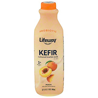 Lifeway Low Fat Peach Kefir Cultured Milk Smoothie, 32 oz