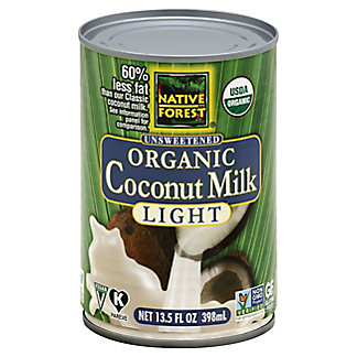 Native Forest Organic Coconut Milk Light,14 OZ.