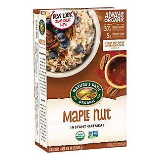 Natures Path Organic Hot Oatmeal Maple Nut, 8.00 ea