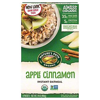 Natures Path Organic Hot Oatmeal Apple Cinnamon, 8.00 ea