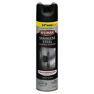 Weiman Stainless Steel Cleaner And Polish,12 OZ