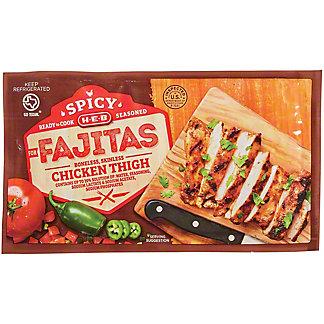 H-E-B Spicy Seasoned Boneless Skinless Chicken Thighs for Fajitas