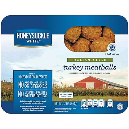 Honeysuckle White Italian Style Turkey Meatballs,12 OZ