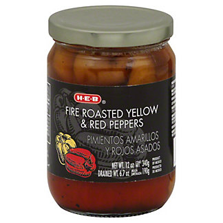 H-E-B Fire Roasted Yellow and Red Peppers,12 OZ