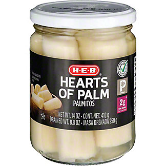 H-E-B Hearts of Palm,14.4 OZ