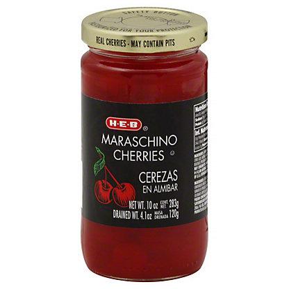 H-E-B Red Maraschino Cherries, 10 oz