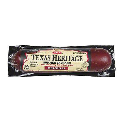 H-E-B Texas Heritage Original Summer Sausage,12.00 oz