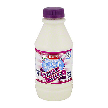 H-E-B Select Ingredients Whole Milk,1 PT