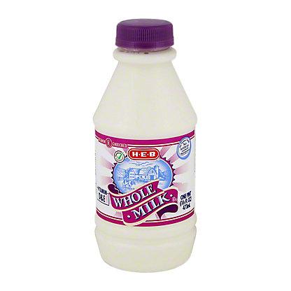 H-E-B Select Ingredients Whole Milk,1 PT