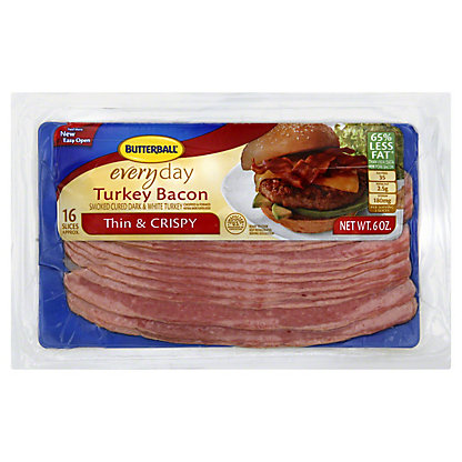 Butterball Everyday Thin and Crispy Turkey Bacon, 6 oz