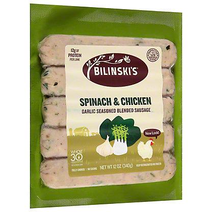 Bilinski's Spinach and Garlic Chicken Sausage, 12 oz