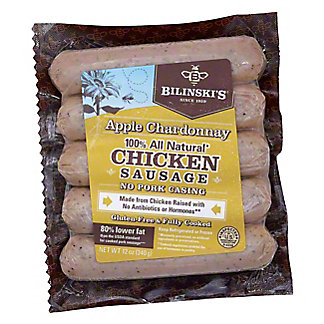 Bilinski's Apple Chardonnay Chicken Sausage,12 OZ