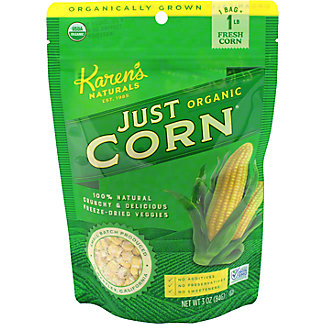 Karen's Naturals Just Corn Organic Dried Snack, 3 oz