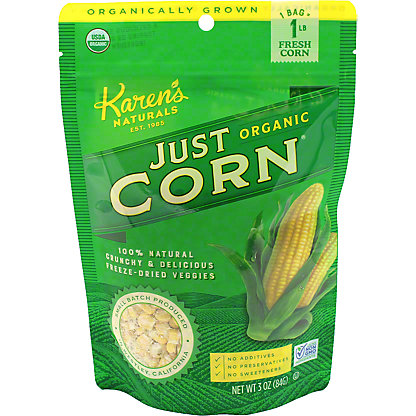 Karen's Naturals Just Corn Organic Dried Snack, 3 oz