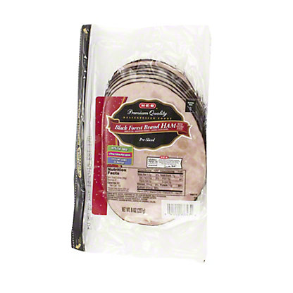 H-E-B Black Forest Brand Ham Slices,8 OZ
