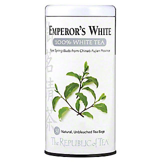 The Republic of Tea Emperor's 100% White Tea Bags, 50 ct