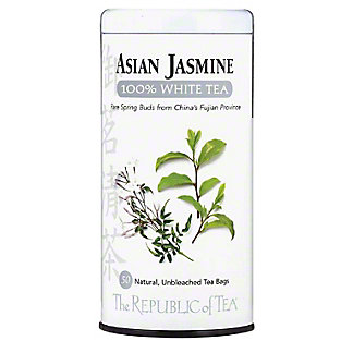 The Republic of Tea Asian Jasmine 100% White Tea Bags, 50 ct