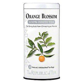 The Republic of Tea Orange Blossom 100% White Tea Bags, 50 ct