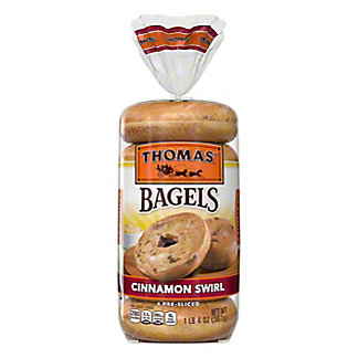 Thomas' Cinnamon Swirl Pre-Sliced Bagels,6 CT