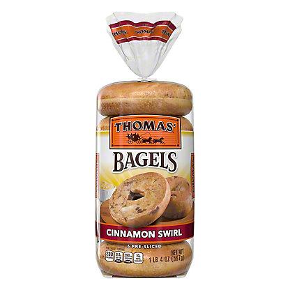 Thomas' Cinnamon Swirl Pre-Sliced Bagels,6 CT